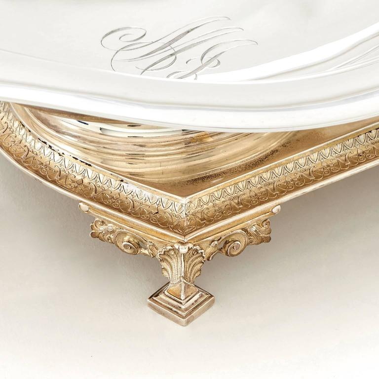 Spectacular Tiffany & Co. Sterling Strawberry Server Dated 1872 For Sale 3