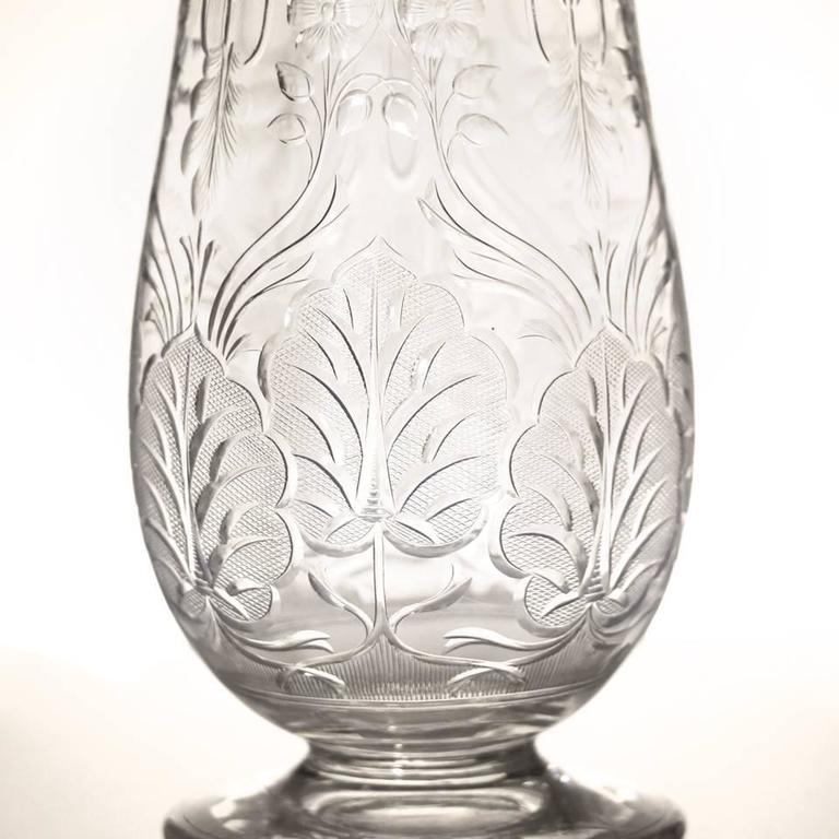 Late 19th Century Art Nouveau Rock Crystal Vase by Webb For Sale