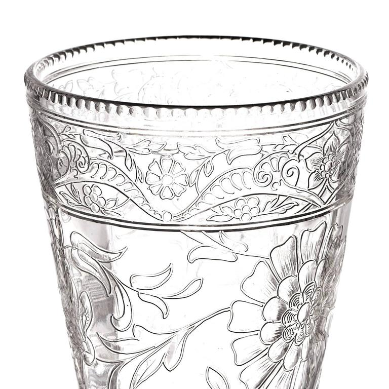 Early 20th Century Spectacular Thomas Webb Art Nouveau Rock Crystal Vase For Sale
