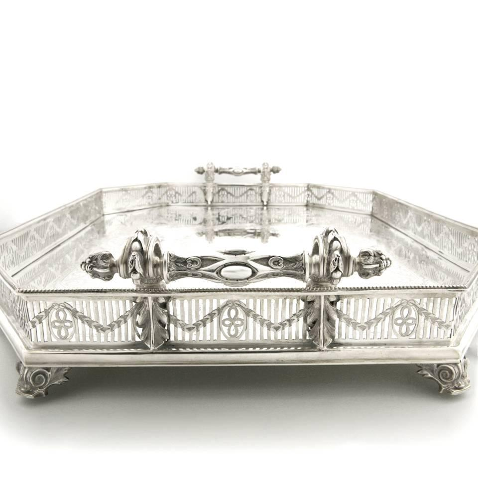 Massive Victorian Sterling Tray By Martin And Hall At 1stdibs