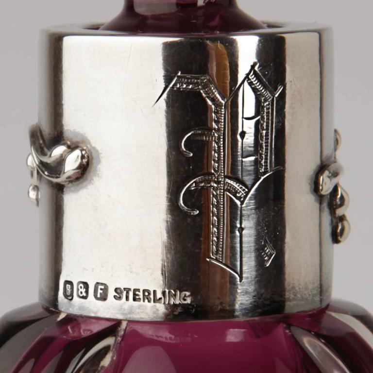 Stevens & Williams Sterling Mounted Decanter 5
