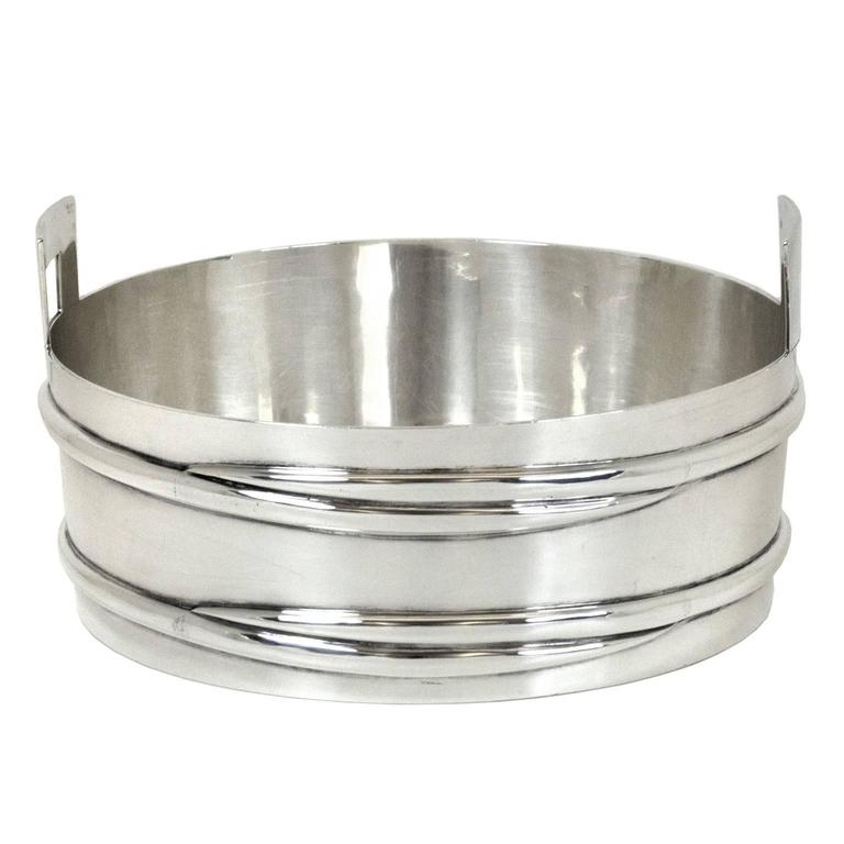 Mid-Century Modern Tiffany & Co. Sterling Stave Tub Ice Bucket For Sale