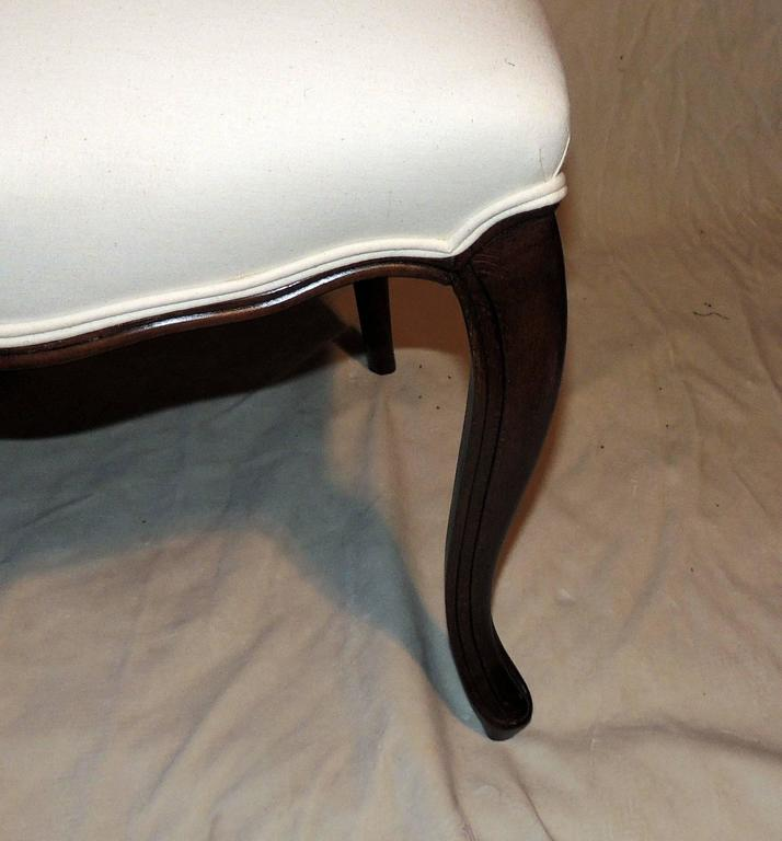 Wonderful Shield Back Set of Six French Leg Carved Back Side Upholstered Chairs For Sale 1
