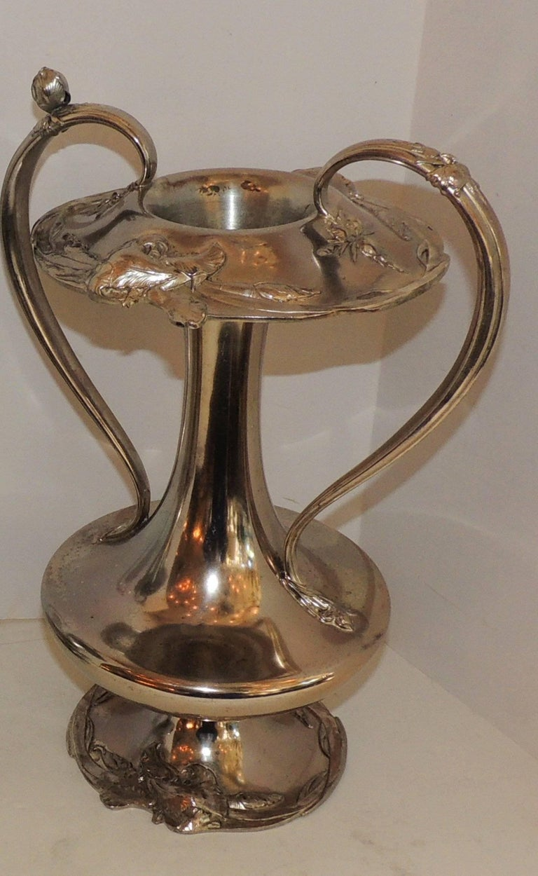 Large pair of reed and barton art nouveau silver plate urn handle vases wmf urns for sale at 1stdibs - Large decorative vases and urns ...