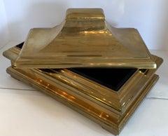 Wonderful Mid Century Modern Brass Bronze Pagoda Box Lid Chapman