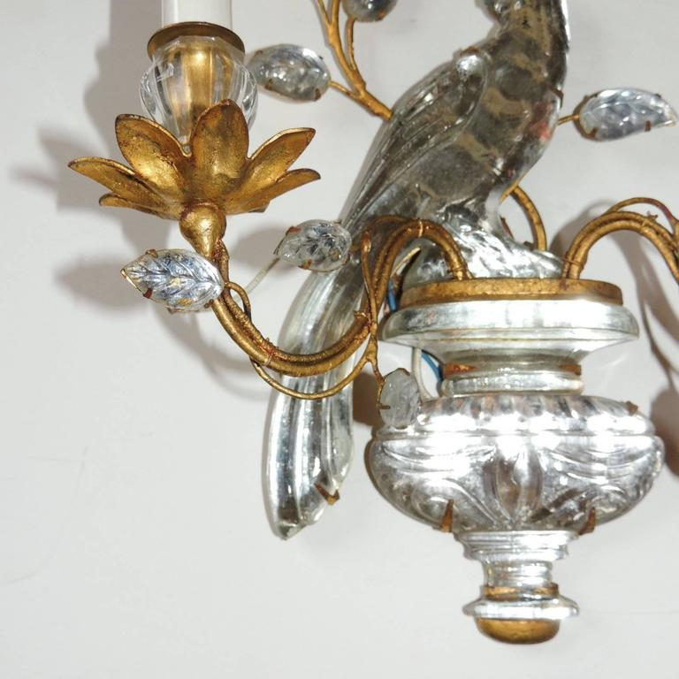 Wall Sconces With Birds : Set of Four Vintage Bagues Style Two-Arm Bird Sconces at 1stdibs