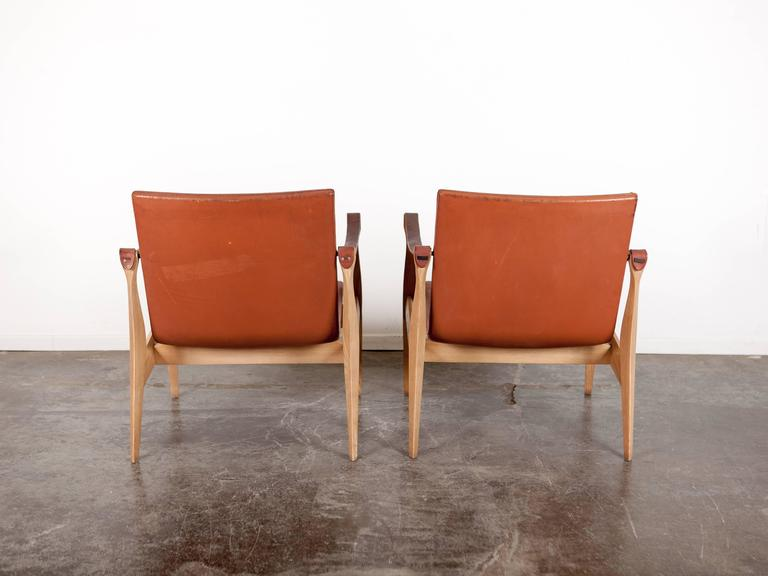 Mid-Century Modern Safari Chairs by Ebbe & Karen Clemmensen In Excellent Condition For Sale In North Hollywood, CA