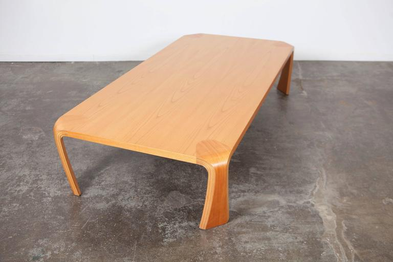 Saburo Inui Mid Century Bent Wood Coffee Table For Sale At 1stdibs