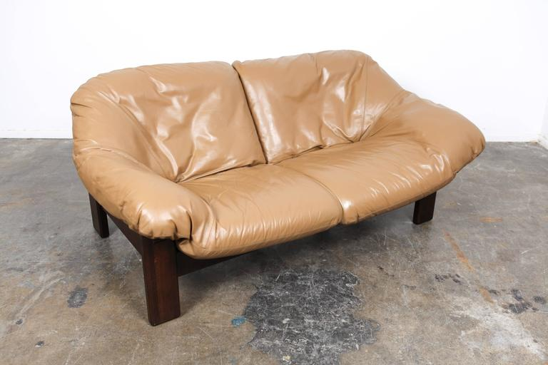 Mid-Century Modern Mid-Century Dutch Cognac Leather Sofa by Gerard Van Den Berg For Sale