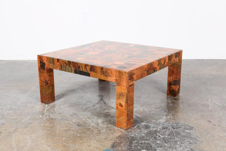 Brazilian Mid Century Percival Lafer Hammered Metal Coffee Table For Sale At 1stdibs