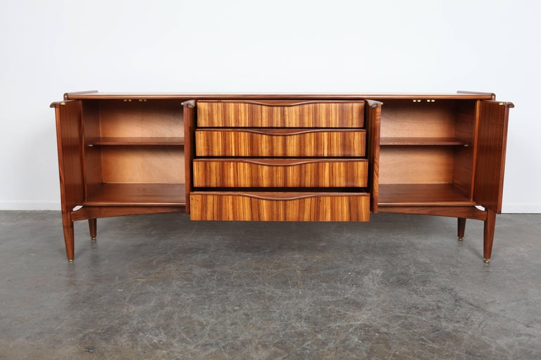 Mid-Century Modern British Four-Door Four-Drawer Tola Sideboard by Elliots of Newbury For Sale