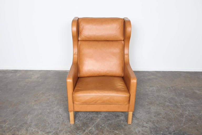 camel leather chair camel leather wingback lounge chair by skalma denmark at 1960