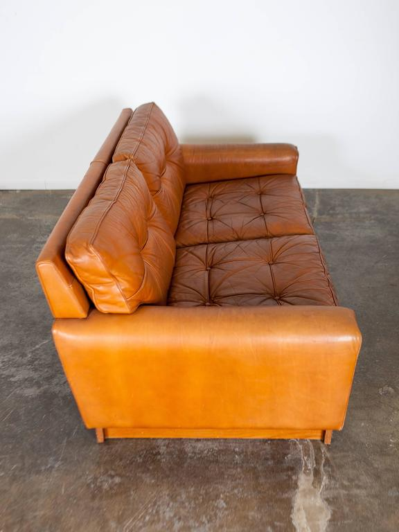Mid Century Brown Leather Sofa By Arne Norell At 1stdibs
