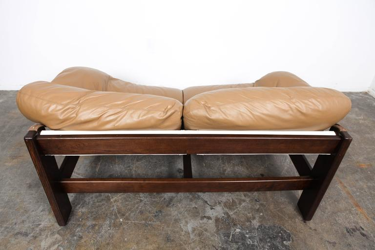 Mid-Century Dutch Cognac Leather Sofa by Gerard Van Den Berg For Sale 4