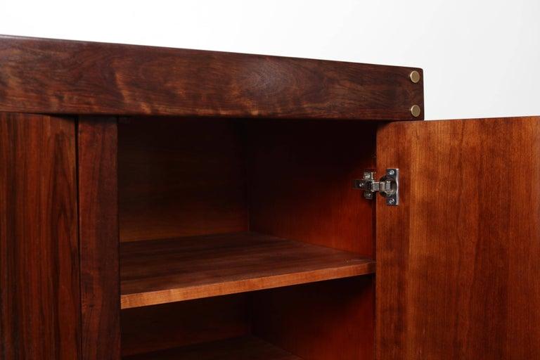 Brazilian Sergio Rodrigues Rosewood Three-Door Credenza For Sale