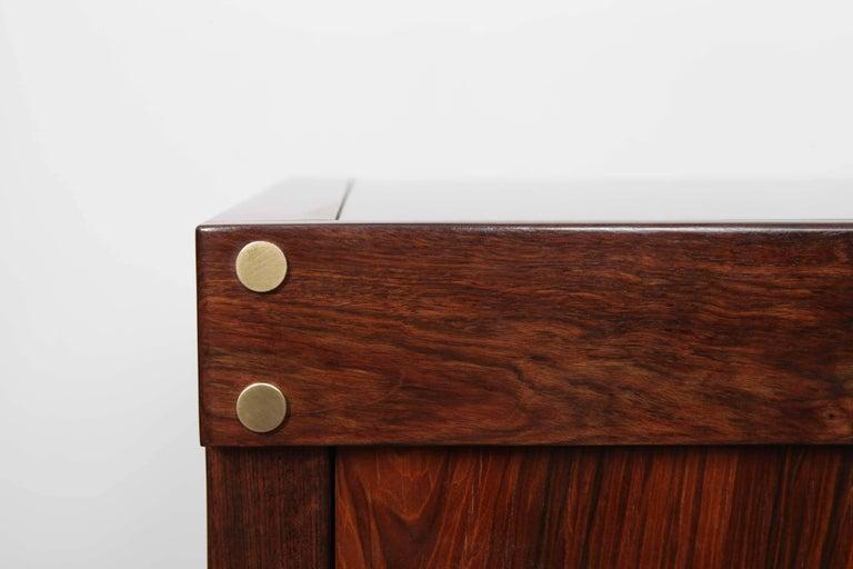 Mid-Century Modern Sergio Rodrigues Rosewood Three-Door Credenza For Sale