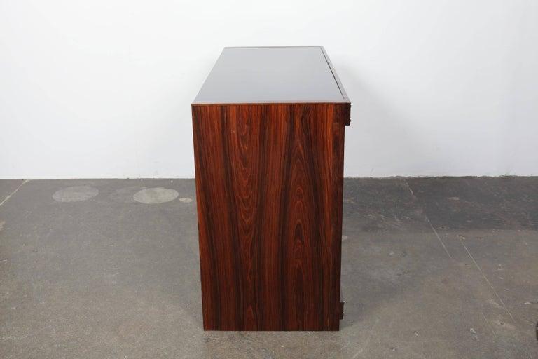 Sergio Rodrigues Rosewood Three-Door Credenza For Sale 1