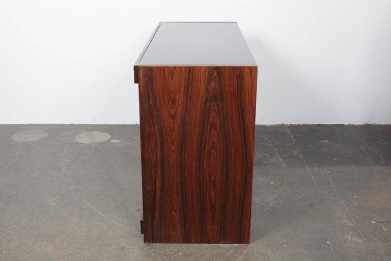 Sergio Rodrigues Rosewood Three-Door Credenza For Sale 4