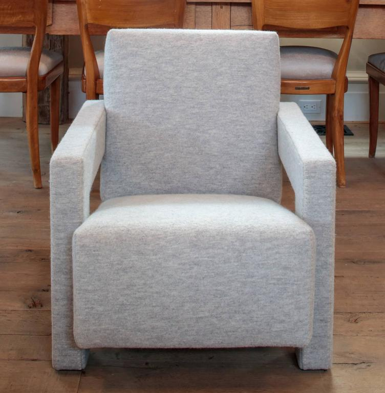 Italian Utrecht Chair by Rietveld in Custom Boiled Wool by Cassina For Sale