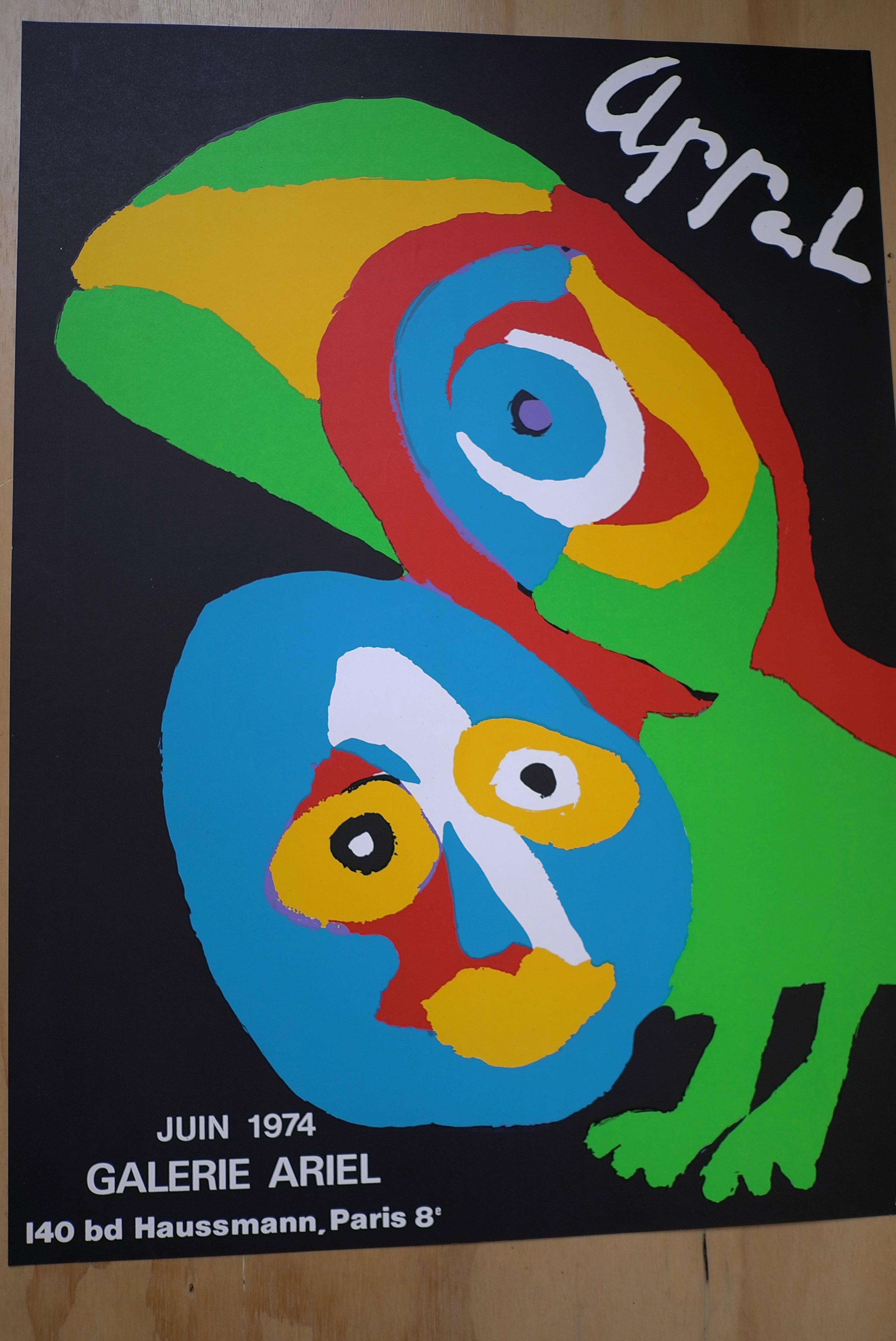 Galerie Ariel 1984 Karel Appel Vintage Offset Poster