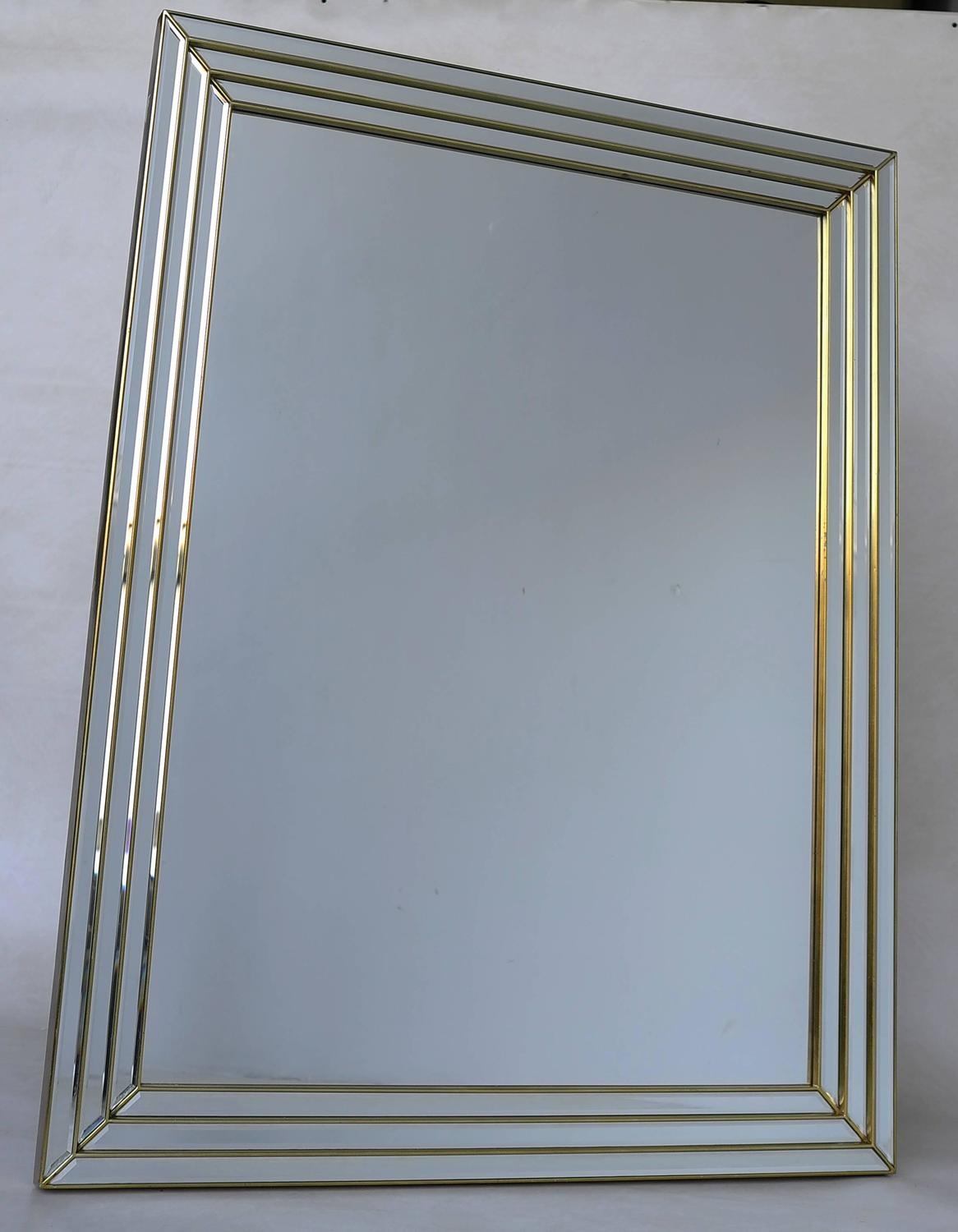 Large brass wall mirror belgium 1970s for sale at 1stdibs for Large wall mirrors for sale