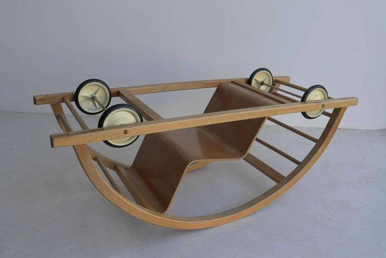 Kids Toy Car And Rocking Chair By Hans Brockhage For Sale