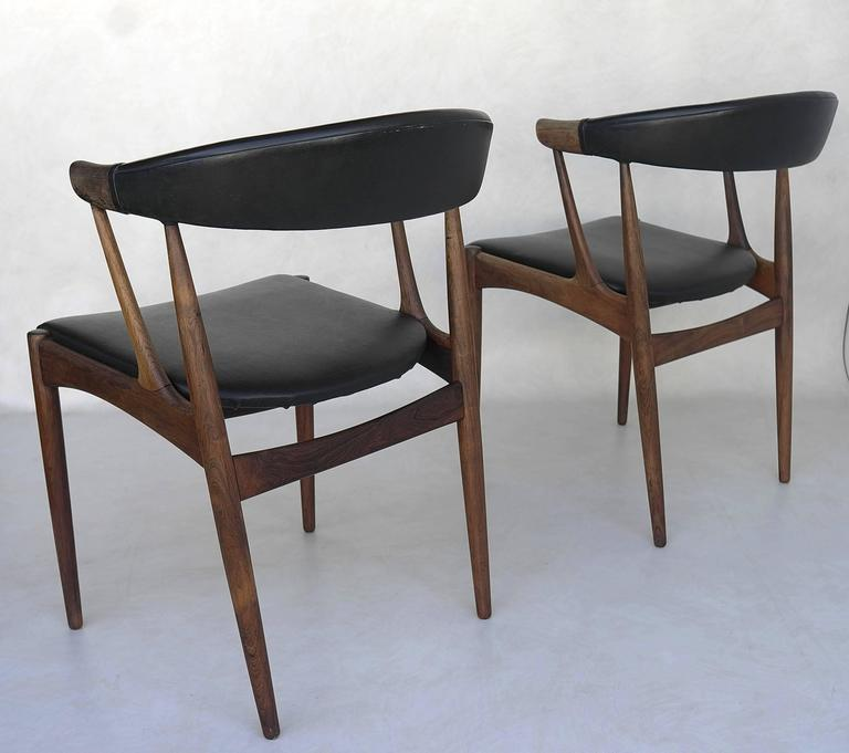 Mid Century Modern Armchairs In Rio Rosewood By Johannes