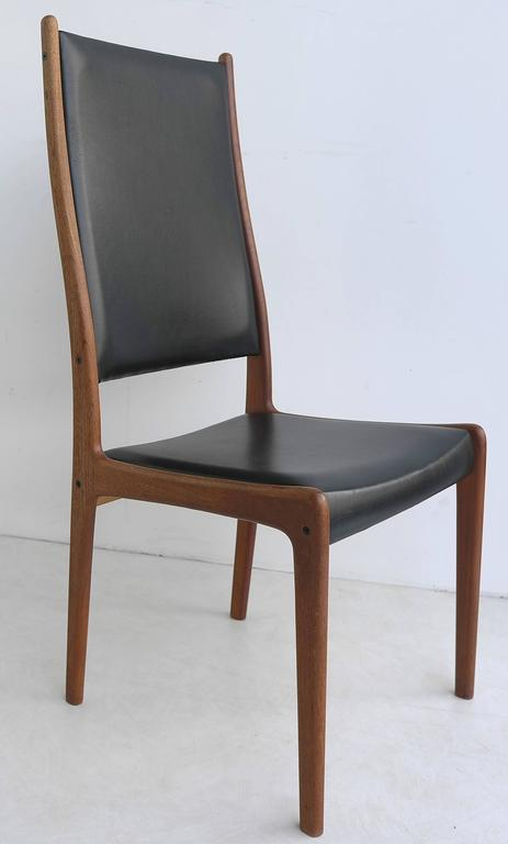Set Of Six High Back Dining Chairs By Johannes Andersen In