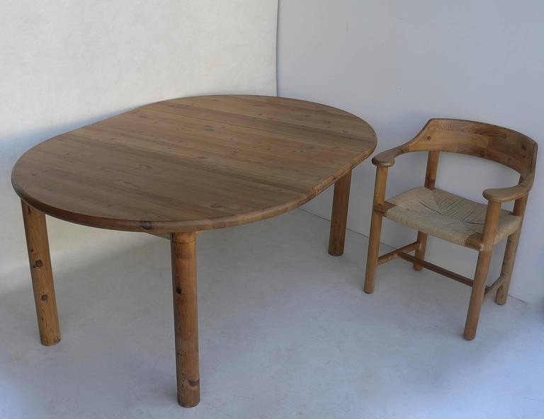Rainer Daumiller Dining Set in Pinewood with Papercord Seats 7