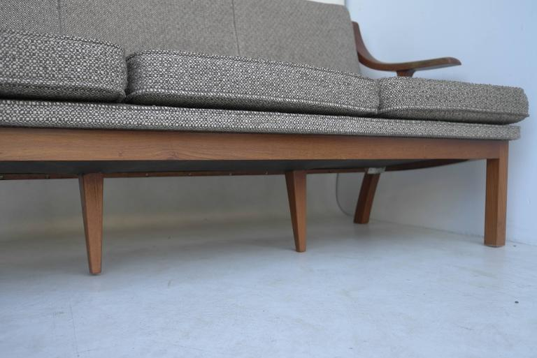 Japanese Organic three-seat Sofa with Two Armchairs, Japan 1965 For Sale
