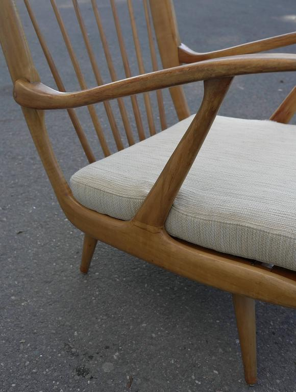 Italian Organic Carlo Mollino Style Sofa with Armchair For Sale