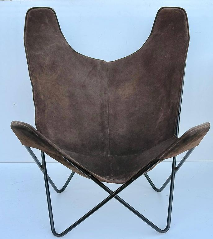 Ordinaire Knoll Butterfly Chair By Jorge Ferrari Hardoy In Suede Leather. Vintage  Knoll Butterfly Chair