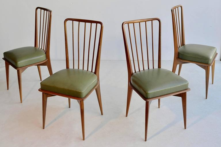 Mid-Century Modern Paolo Buffa Dining Chairs, Italy, 1950s For Sale
