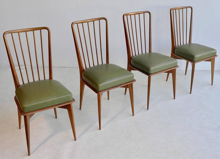 Italian Paolo Buffa Dining Chairs, Italy, 1950s For Sale