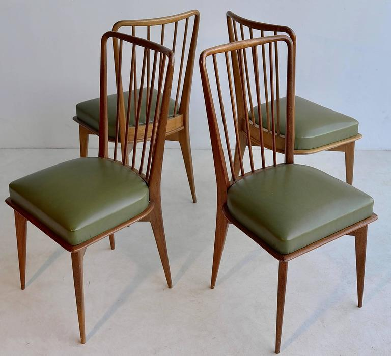 Paolo Buffa Dining Chairs, Italy, 1950s In Good Condition For Sale In The Hague, NL
