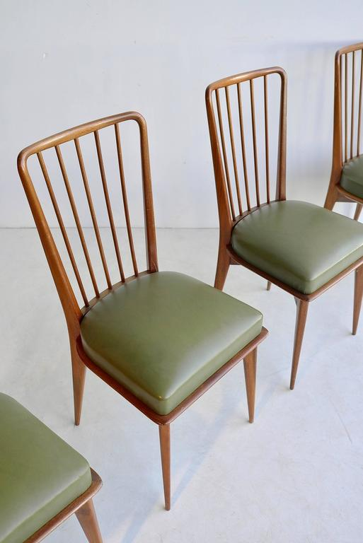 20th Century Paolo Buffa Dining Chairs, Italy, 1950s For Sale