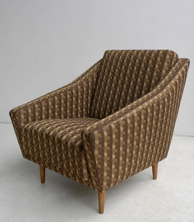 Italian 1950s Armchair in Style of Gio Ponti In Fair Condition For Sale In The Hague, NL