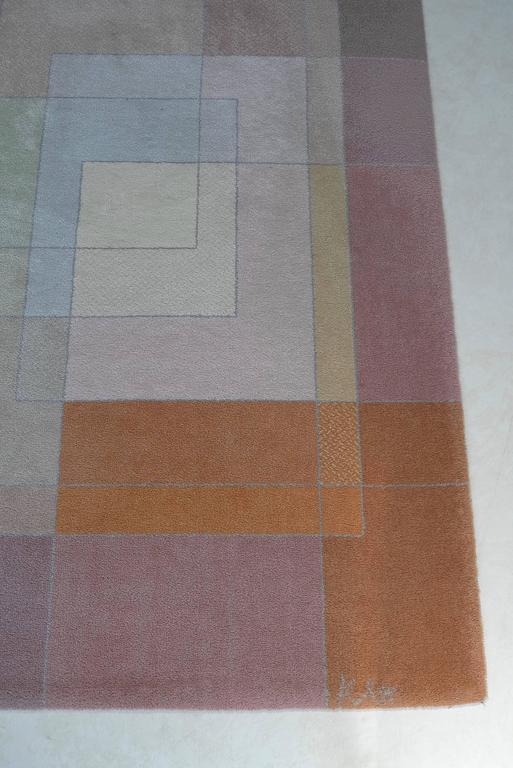 Rare Carpet After Paul Klee Quot Polyphon Gefasstes Weiss