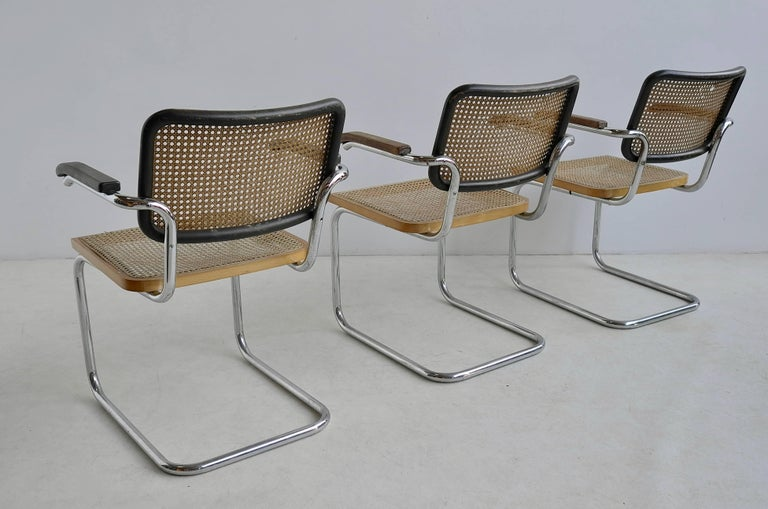 Mid-Century Modern Marcel Breuer S64 Chairs by Thonet Early Editions For Sale