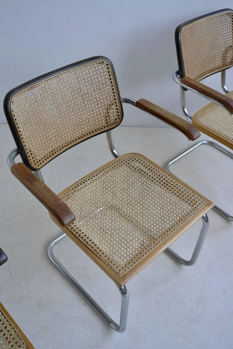 Wood Marcel Breuer S64 Chairs by Thonet Early Editions For Sale