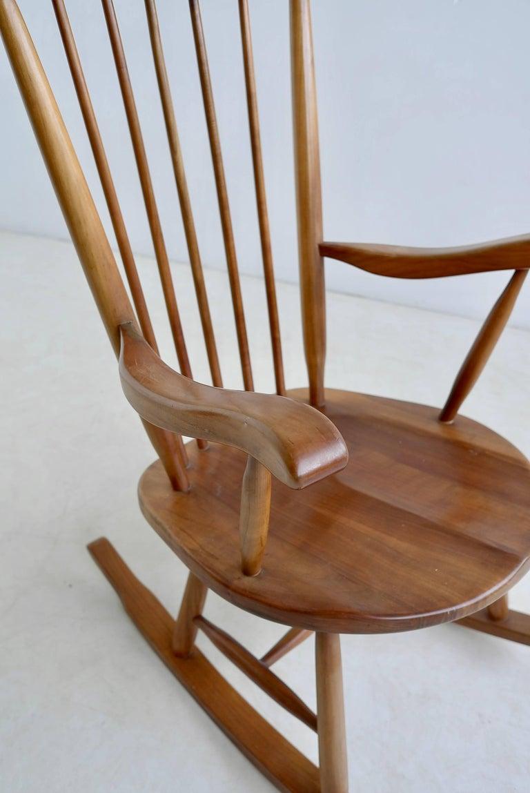 Organic rocking chair in style of George Nakashima.