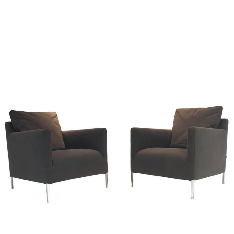 pair of b b italia solo chairs by antonio citterio at 1stdibs. Black Bedroom Furniture Sets. Home Design Ideas