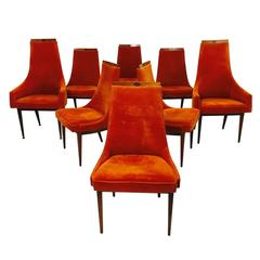 Set of Eight Adrian Pearsall Dining Chairs