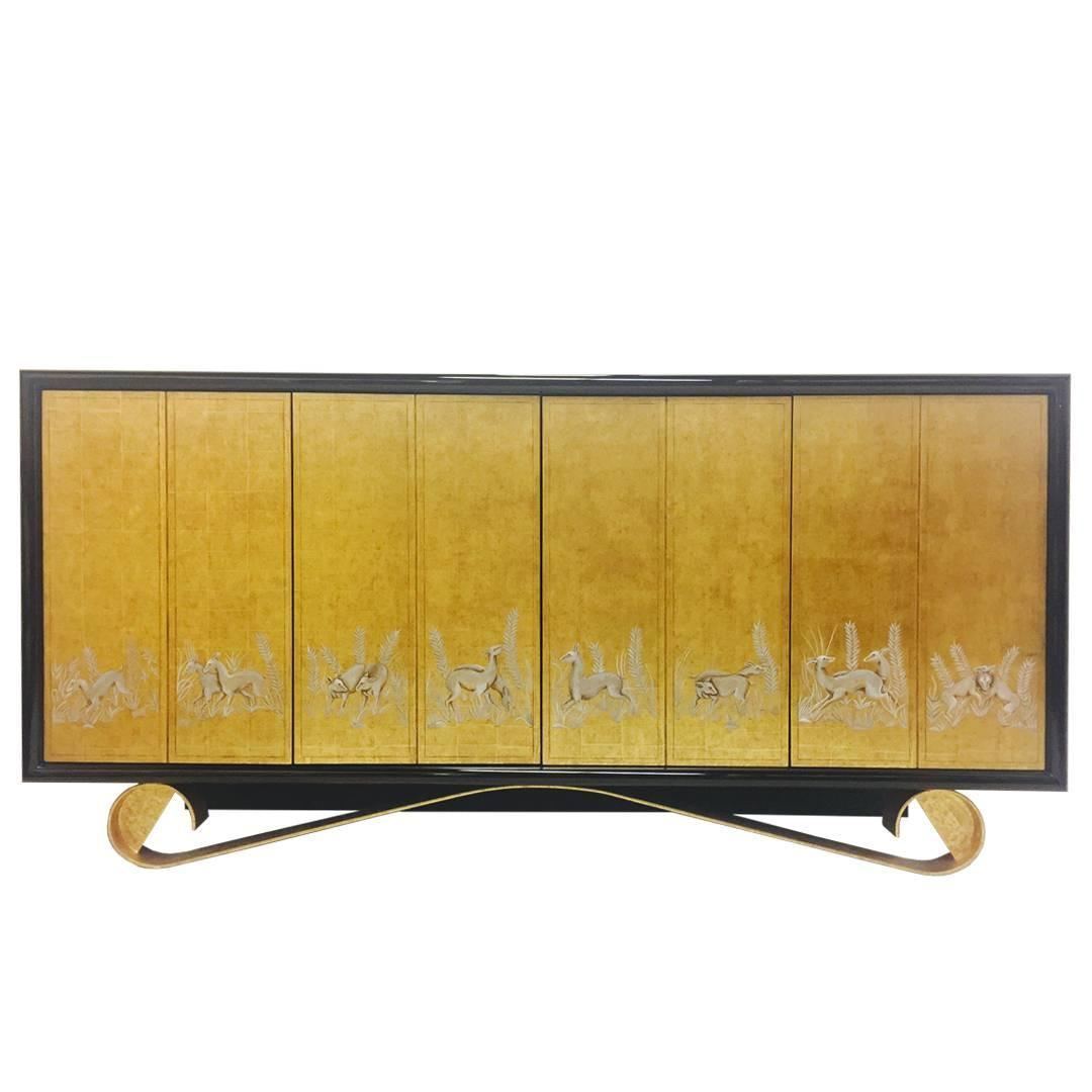 Cassetto sideboard by jean de merry for sale at 1stdibs for Sideboard gold