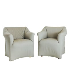 Pair of Tentazione Lounge Chairs for Cassina by Mario Bellini