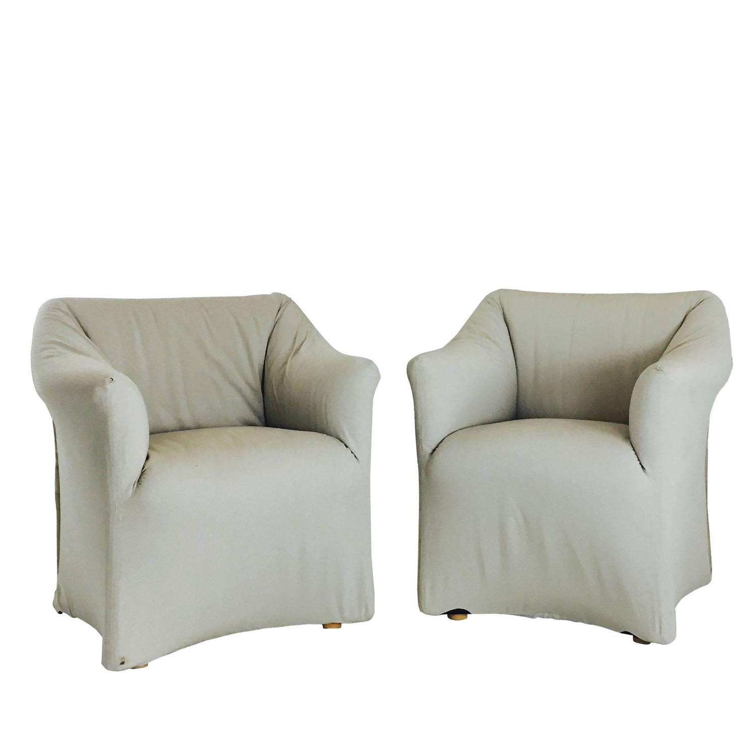 Pair of Tentazione Lounge Chairs for Cassina by Mario Bellini For
