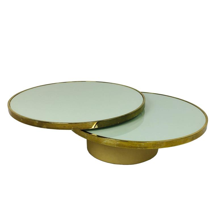 Swivel Brass and Glass Coffee Table by DIA - Design Institute America