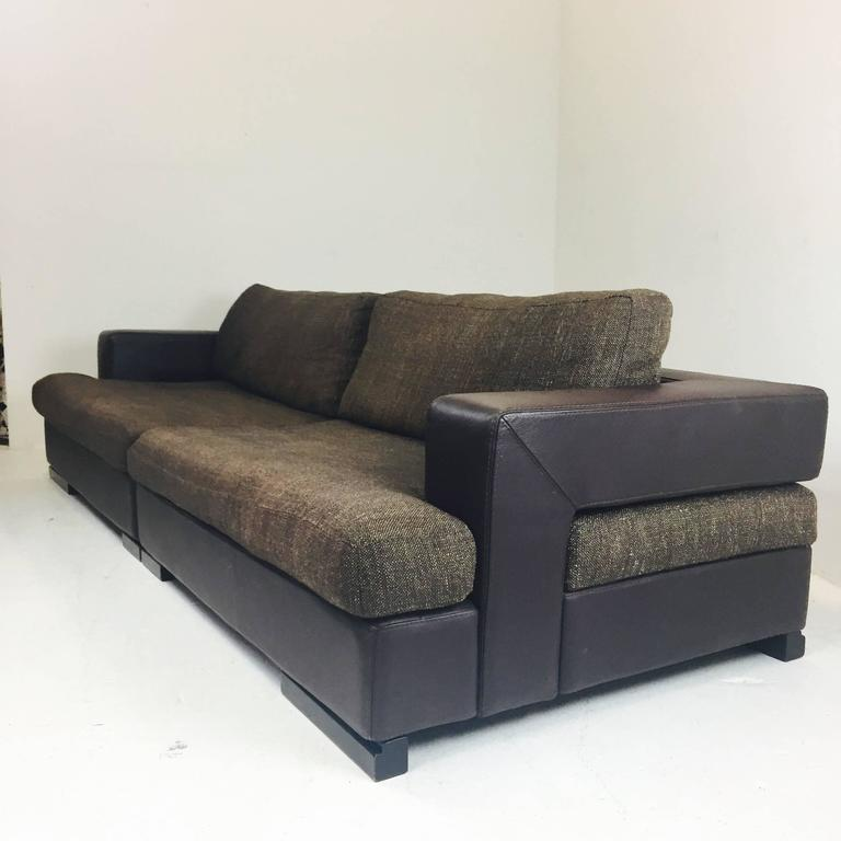 roche bobois two piece sectional sofa for sale at 1stdibs. Black Bedroom Furniture Sets. Home Design Ideas