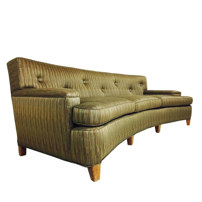 Bon MCM Curved Sofa In The Style Of Dunbar For Sale