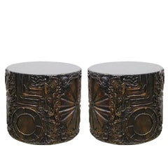 Pair of Brutalist Side Tables by Adrain Pearsall for Craft Associates